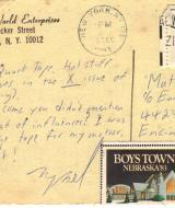 Postcard from Mykel Board, December 13, 1983