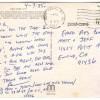 Penn Jillette postcard, April 7, 1985